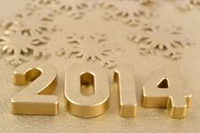 2014 Year Golden Figures Stock Photography