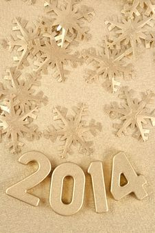 Free 2014 Year Golden Figures Royalty Free Stock Photos - 33567308