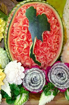 Carving Fruits Royalty Free Stock Image
