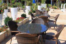 Outdoor Bar, Resort Patio Terrace Stock Photos