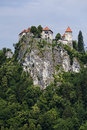 Free Castle In Bled On The Mountain. Stock Photo - 33578730
