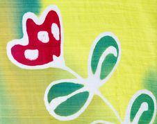 Silk Fabric Patterned Batik Royalty Free Stock Images