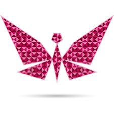 Free Abstract Butterfly  On White Stock Photos - 33573783