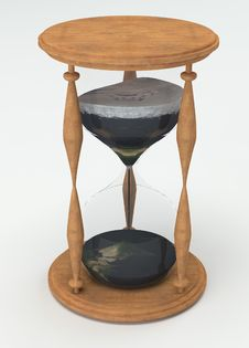 Free Hourglass Time Is Earth Stock Photography - 33576582