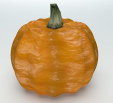 Free Pumkin On White Background Royalty Free Stock Photography - 33576937