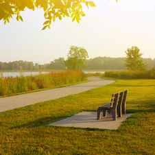 Free Bench In The Park Stock Image - 33577671