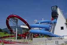 Free Red And Blue Water Slide Stock Photos - 33577803