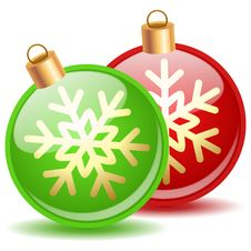 Free Christmas Balls Stock Photo - 33578830