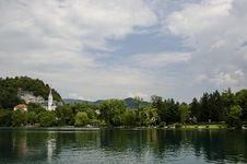 Free Scenic View Of Bled Lake, Slovenia. Stock Images - 33578834