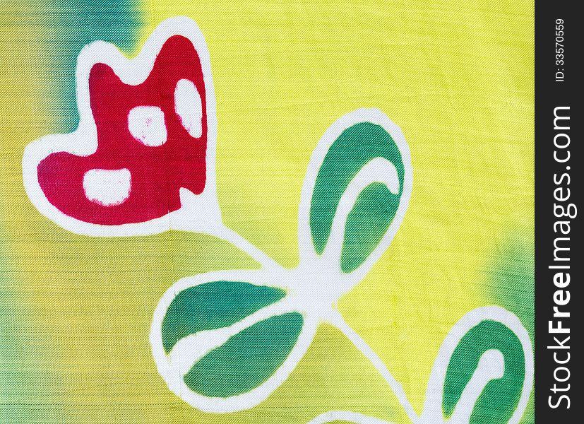 Silk fabric patterned batik