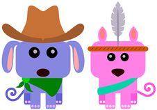 Animal Cowboy And Indian Royalty Free Stock Photos