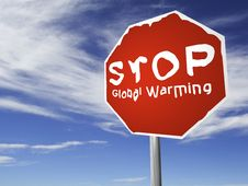 Free STOP Global Warming! Royalty Free Stock Image - 3360156