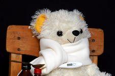 Free Sick Plush Bear Royalty Free Stock Photos - 3360658