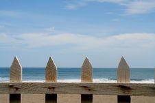 Free Wood Fence On A Tropical Beach Stock Photos - 3361533