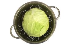 Free Fresh Cabbage On White Stock Images - 3361814