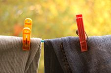 Free Clips For The Laundry Stock Image - 3361981