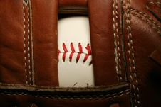 Free Baseball In A Glove Royalty Free Stock Photo - 3362025