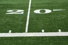 Free Football Twenty Yard M Royalty Free Stock Image - 3362076
