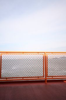 Free Orange Railing Stock Photography - 3362142