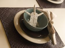Free Starfish Place Setting Stock Photos - 3362663