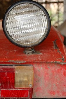 Free Light On The Tractor Royalty Free Stock Photography - 3363297