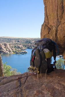 Climber S Pack Stock Image