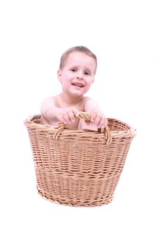 Free Boy In The Basket Royalty Free Stock Photos - 3364098