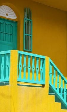 Yellow Stairs Stock Photography