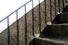 Granite Wall And Stairs Stock Photo
