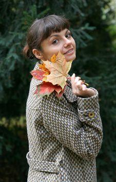 Free Autumn Woman 10 Royalty Free Stock Image - 3365186