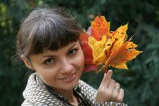 Free Autumn Woman 12 Royalty Free Stock Photos - 3365198