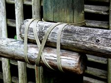 Free Logs And Rope Stock Image - 3365971