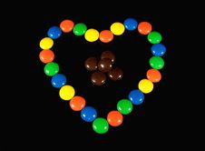 Free Chocolate Candy Heart Royalty Free Stock Photography - 3366497