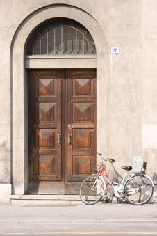 Free Door With Cycle Stock Photos - 3366923