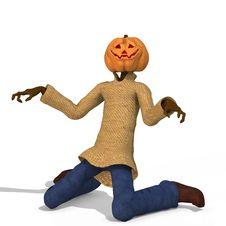 Free Mister Pumpkin 03 Stock Image - 3367941