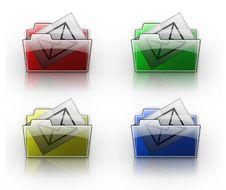 Mail Folder Button Royalty Free Stock Photo
