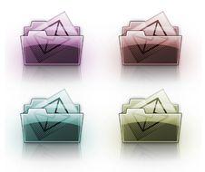 Mail Folder Button Royalty Free Stock Photos