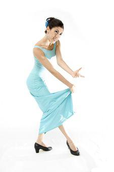 Free Beautiful Spanish Dancer Royalty Free Stock Image - 3369086
