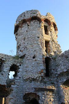 Ogrodzieniec Castle Ruins Poland. Stock Photography
