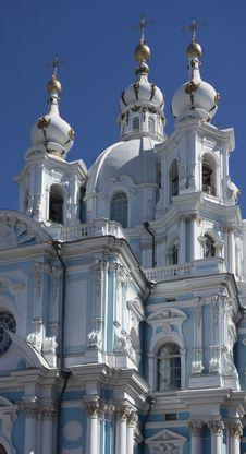 Smolny Cathedral Royalty Free Stock Photo