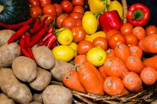 Free Vegetables In Market Stock Photos - 33616363