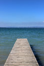 Free Wooden Jetty Going Out Into A Blue Lake. Royalty Free Stock Photos - 33628528