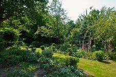 Attractive English Style Formal Garden Stock Photos