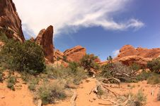 Free Scenic Trail. Arches National Park, Utah, USA Stock Photography - 33643812
