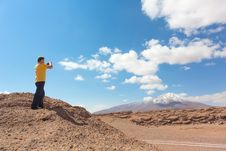 Free Man Taking Pictures On Camera Royalty Free Stock Image - 33649526