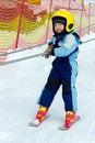 Free Child Skier On Ski Lift Royalty Free Stock Images - 33658549