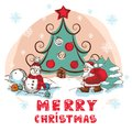 Free Christmas Colorful Vector Card Royalty Free Stock Photography - 33659547