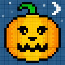 Free 8-bit Pixel Art Halloween Pumpkin Royalty Free Stock Photo - 33653795