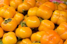 Persimmon Fruit Background Stock Image