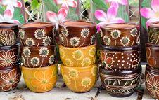 Free Clay Pots Royalty Free Stock Photos - 33656858